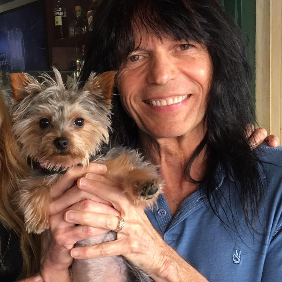 Randy Sarzo with his Yorkie
