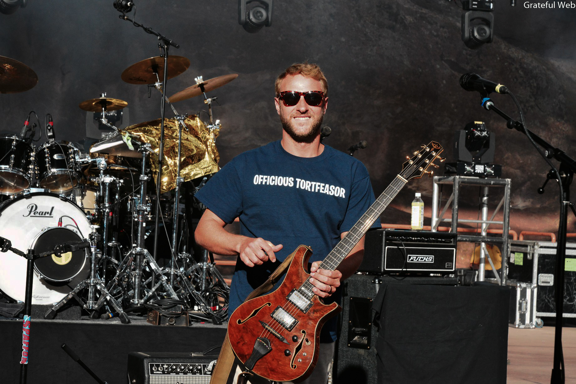 Brian Moss of Spafford steps out on the Red Rocks stage for their first time