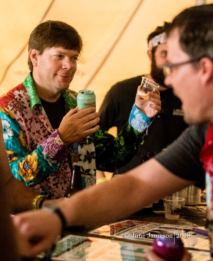 Kyle having some brews @ Summer Camp