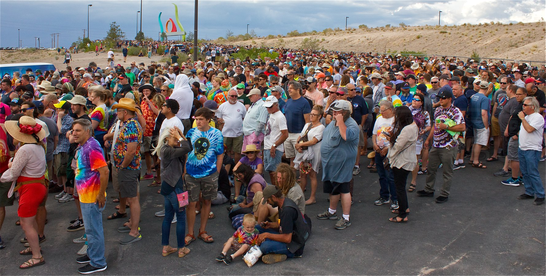 patietly waiting to get in | Isleta Amphitheater