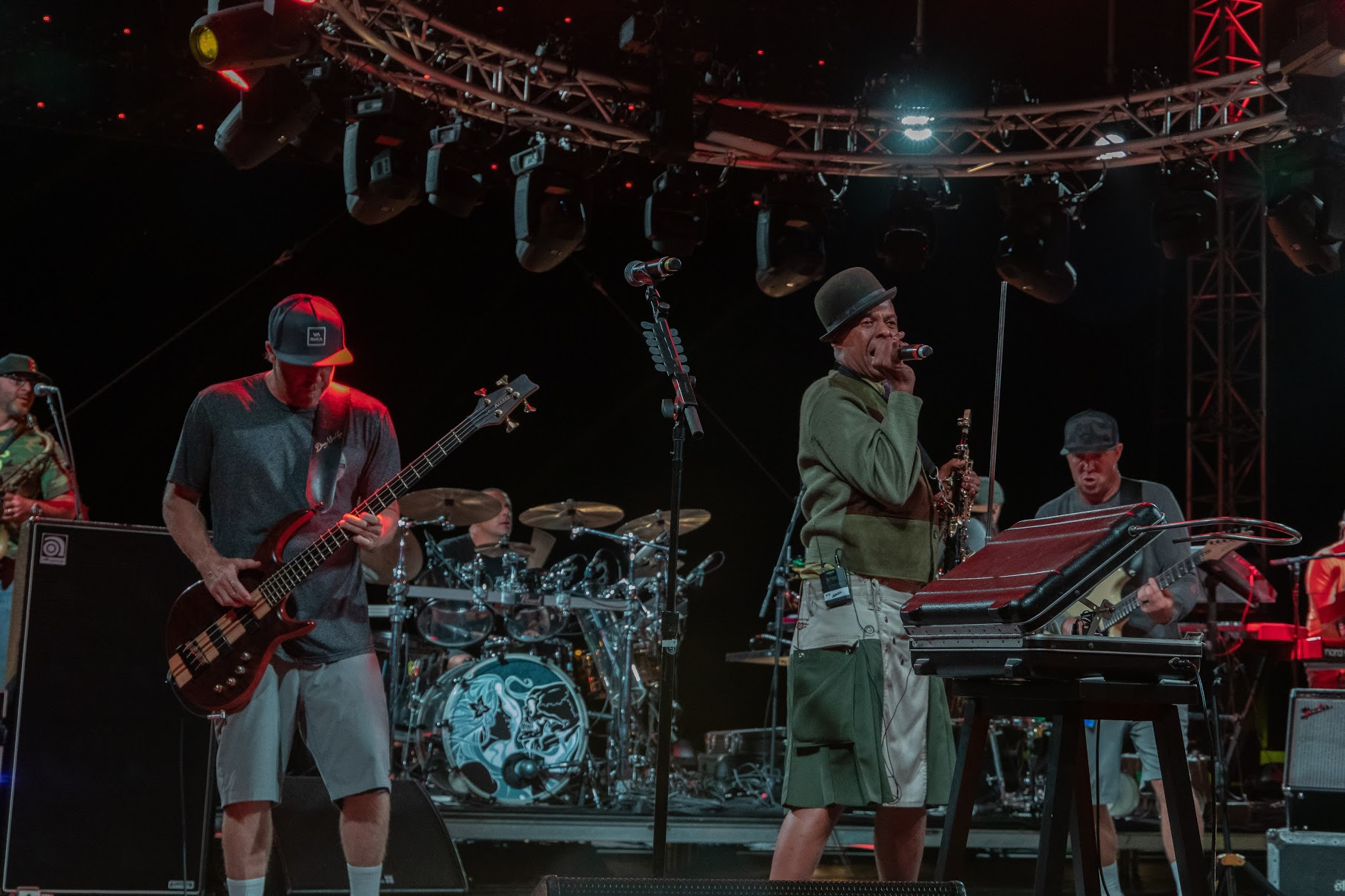 Angelo Moore sitting in with Slightly Stoopid