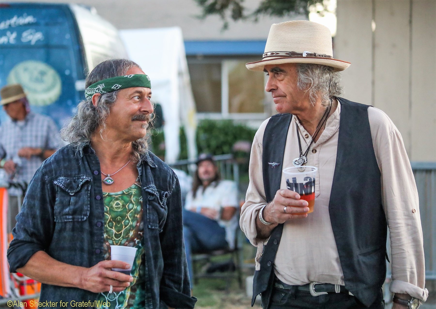 Barry Sless & Pete Sears after performing with Moonalice and David Nelson Band