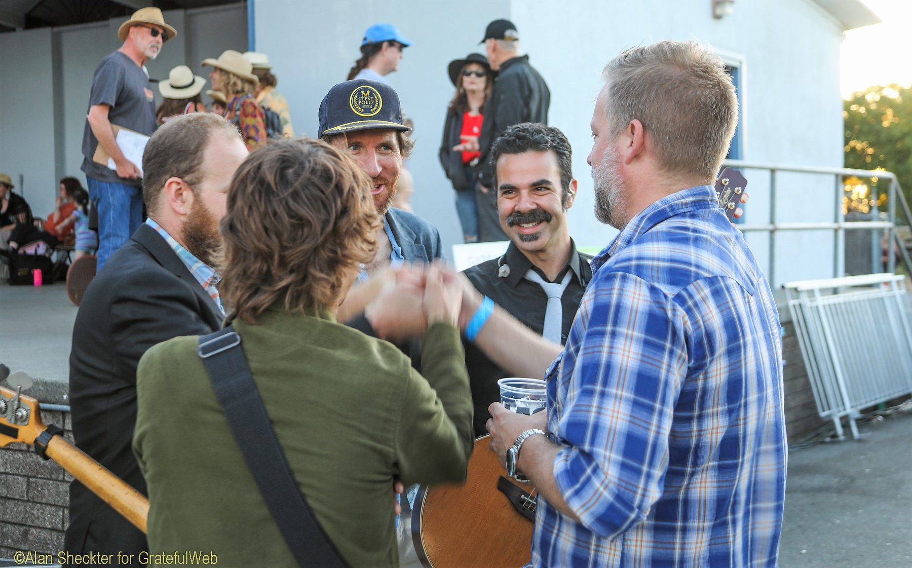Dave Brogan (right) with his former ALO bandmates