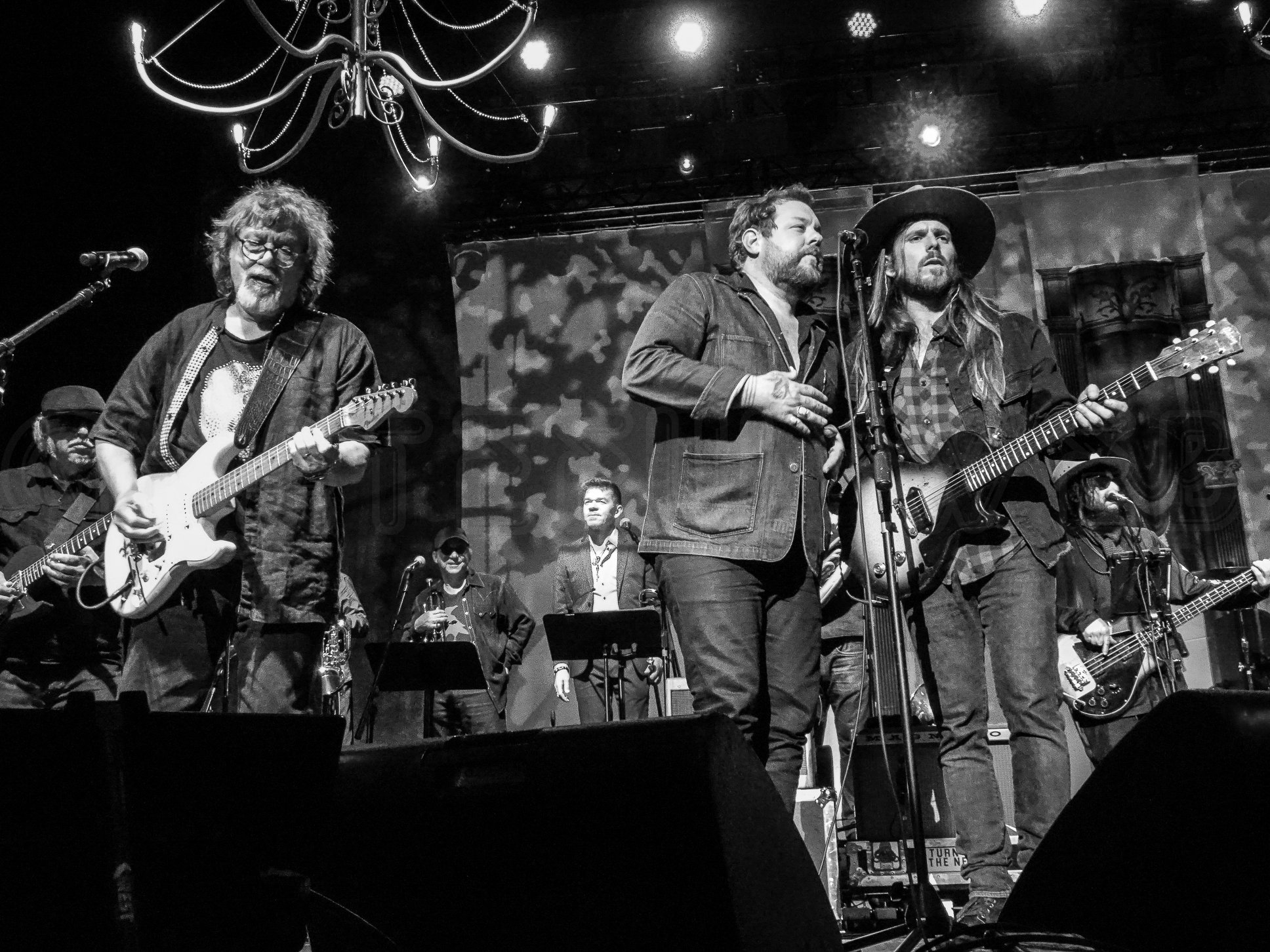 Dave Malone, Nathaniel Rateliff, and Lukas Nelson