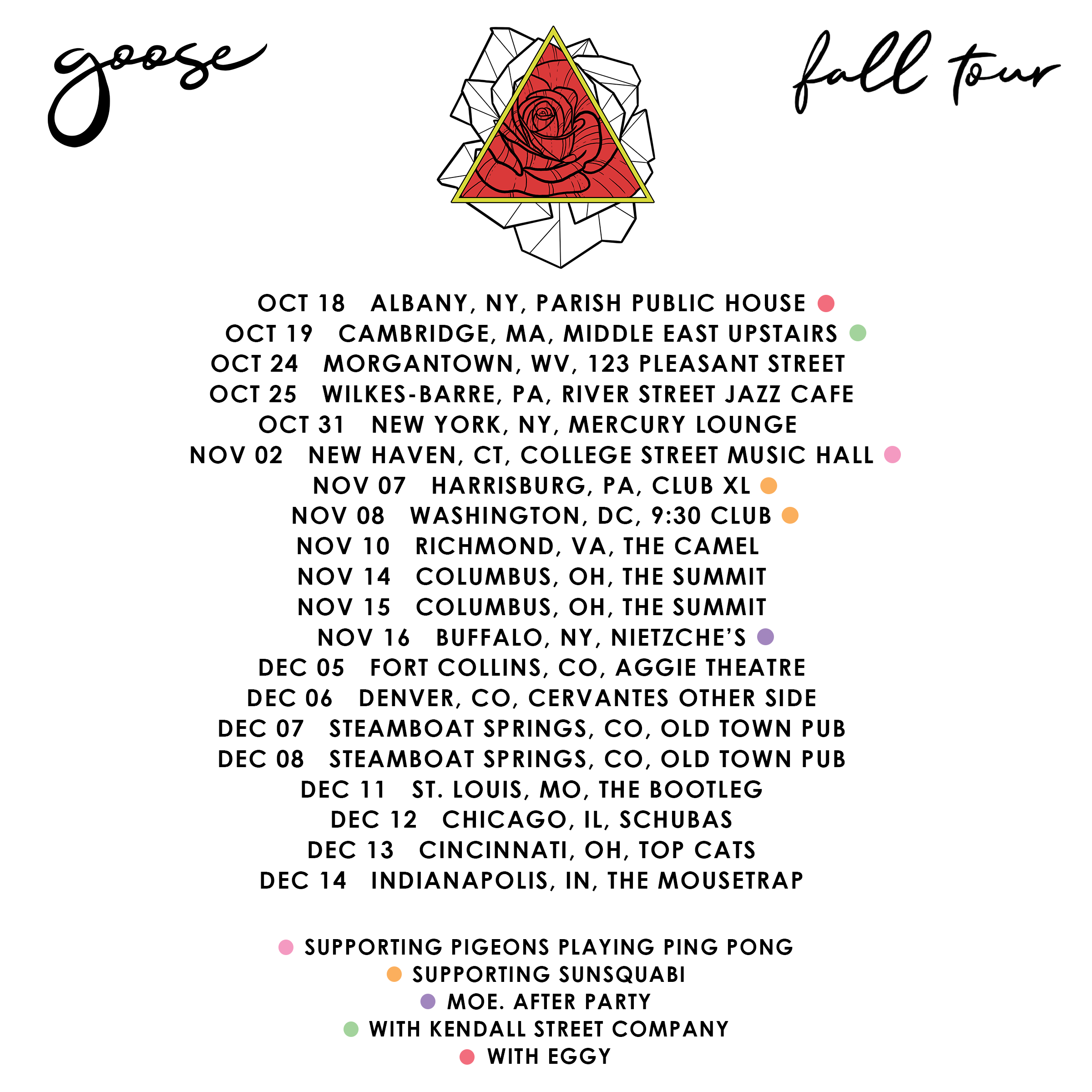 Goose on tour this fall