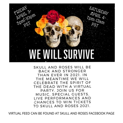Skull Roses Festival Rescheduled Virtual Party This Weekend Grateful Web