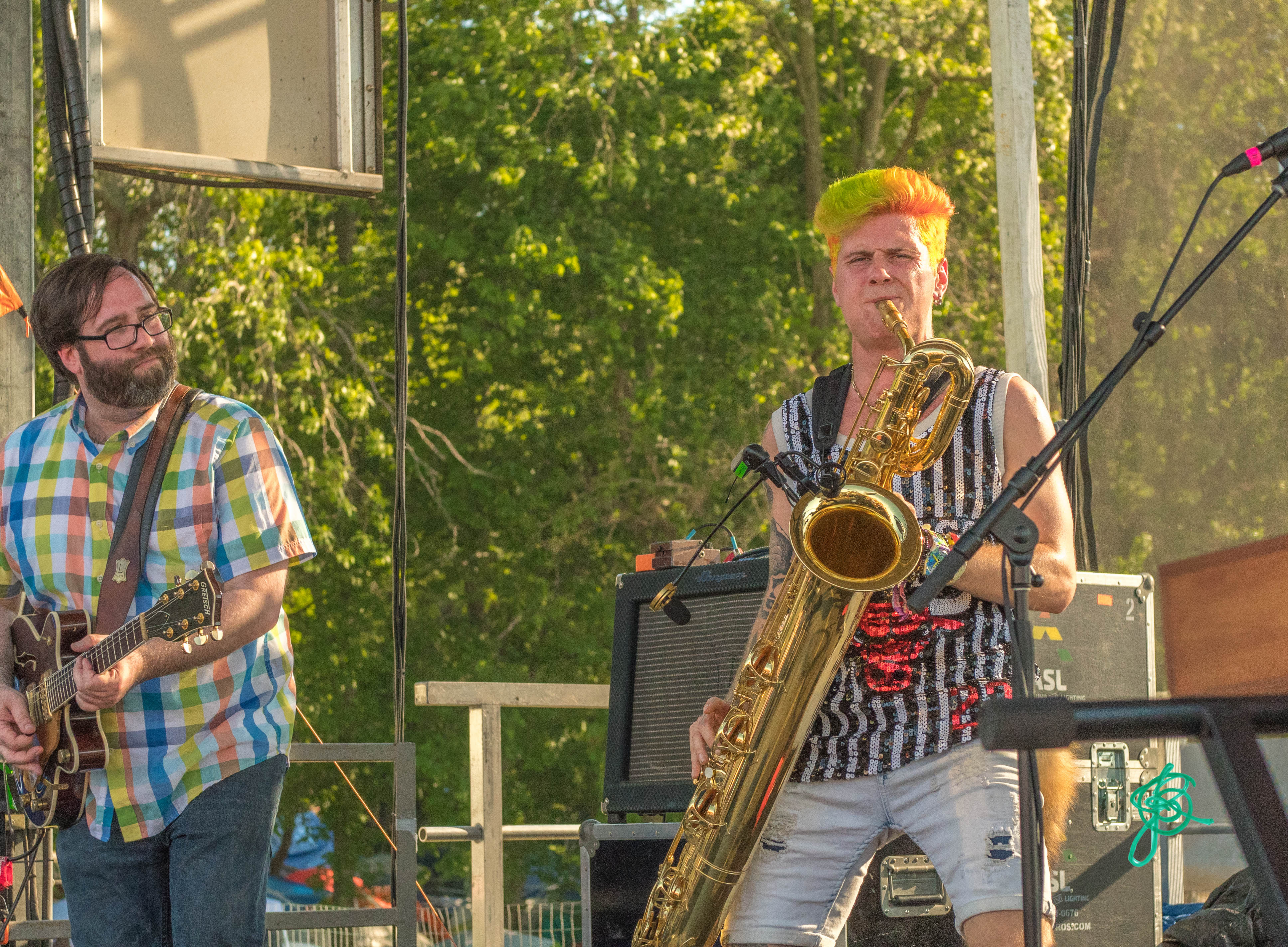 Leo P. from Too Many Zoos sitting in with Family Groove Co @ Summer Camp 2019