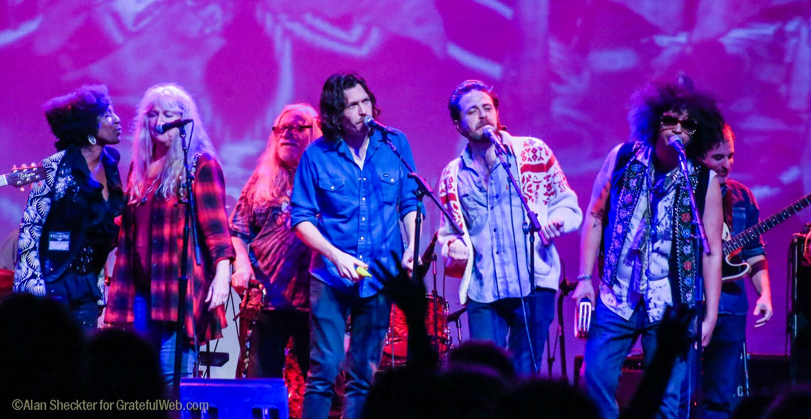 "A group sing on ""Not Fade Away"" 