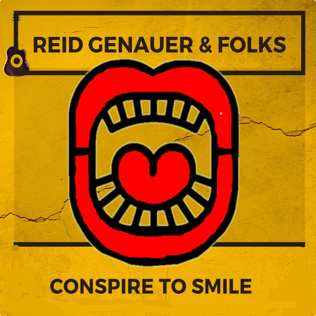 "Reid Genauer & Folks ""Conspire To Smile"". Announce upcoming album, social media thought experiment and Kickstarter beginning Feb 1 2018"