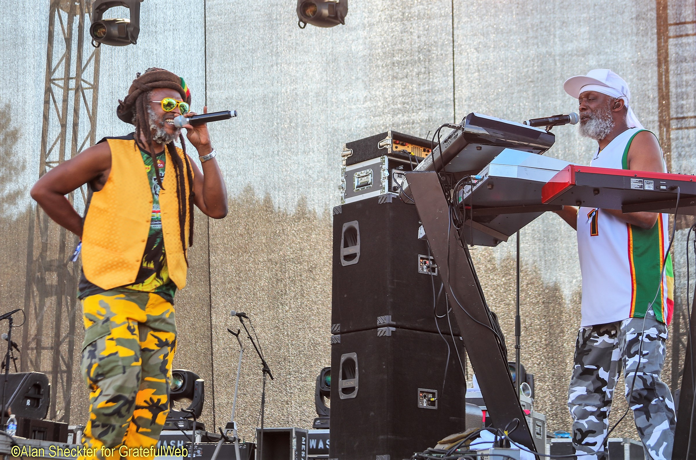 Steel Pulse's David Hinds (left) and Selwyn Brown