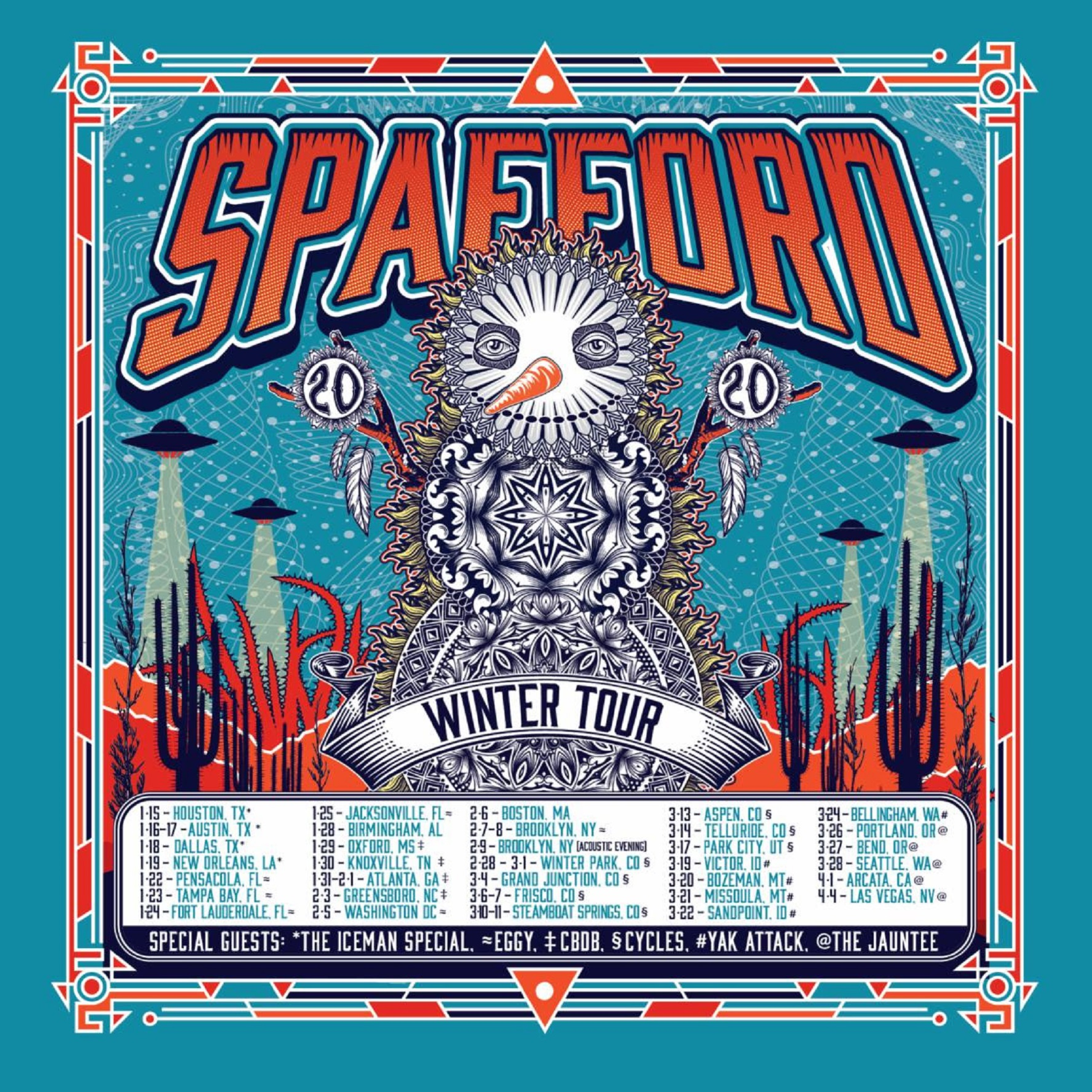 Spafford 2019-2020 Winter Tour