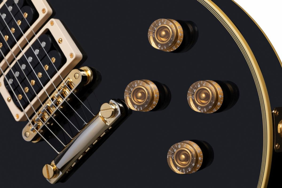"Above: a close-up of the Peter Frampton ""Phenix"" Gibson Les Paul Custom"