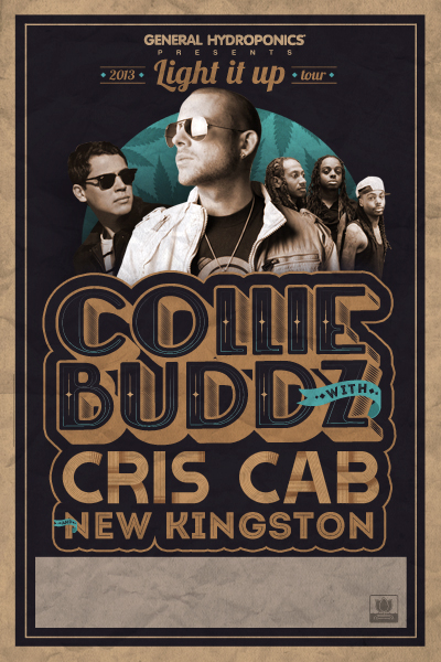 Just Announced: Collie Buddz with Cris Cab & New Kingston