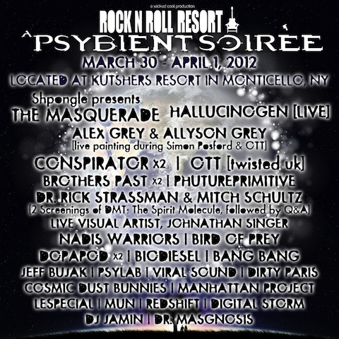 Rock N Roll Resort v2: A Psybient Soiree feat. Shpongle, Ott, Conspirator, Alex Grey & More